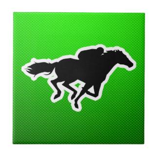 Green Horse Racing Tiles
