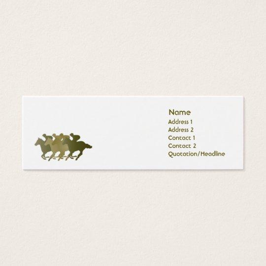 Green Horse - Skinny Mini Business Card
