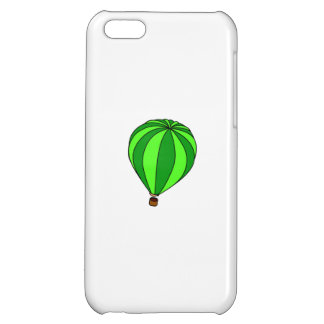 Green Hot Air Ballon Cartoon Case For iPhone 5C