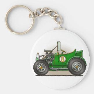 Green Hot Rod Car  Key Chains