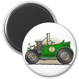 Green Hot Rod Car Magnets