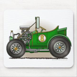 Green Hot Rod Car Mouse Pad