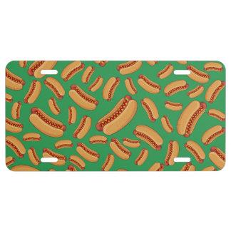 Green hotdogs license plate