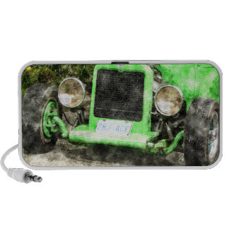 Green Hotrod Vintage Classic Car Painted Style Travel Speaker