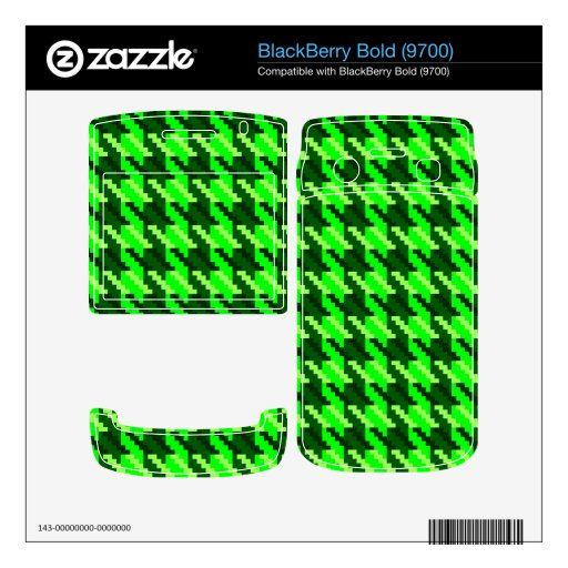 Green Houndstooth BlackBerry Skin