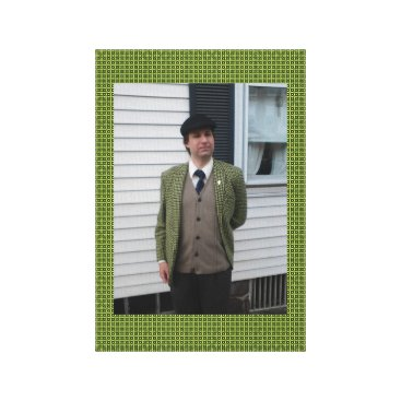 Professional Business Green Houndstooth Canvas Print