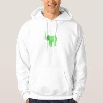 Green Houndstooth Elephant Hoodie