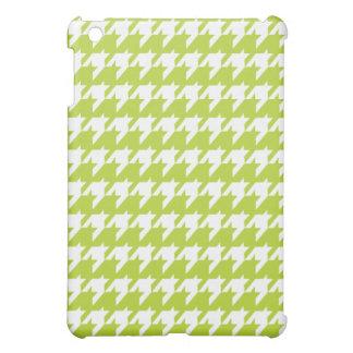 Green houndstooth  iPad mini case