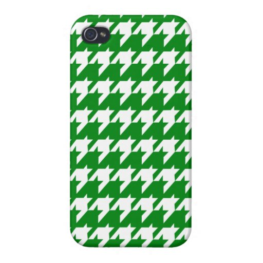 Green houndstooth iPhone 4 cover