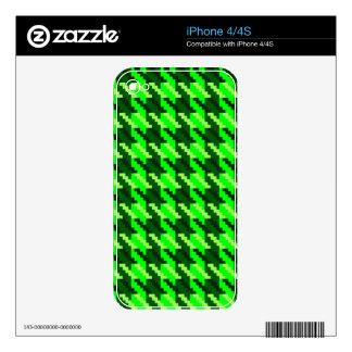 Green Houndstooth iPhone 4 Decals