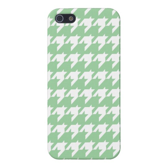 Green houndstooth iPhone 5 Cover For iPhone SE/5/5s