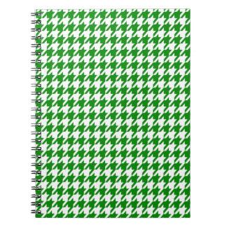 Green Houndstooth Spiral Note Book