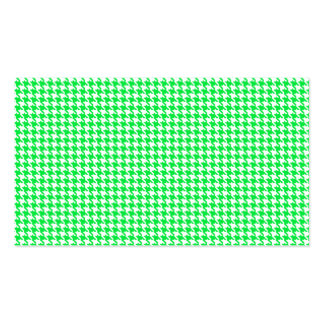 Green Houndstooth Pattern Business Cards