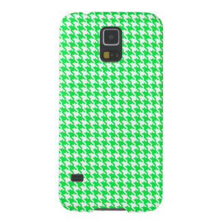 Green Houndstooth Pattern Galaxy S5 Cover