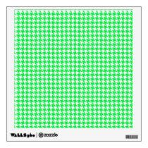 Green Houndstooth Pattern Wall Sticker