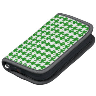 Green Houndstooth Folio Planners