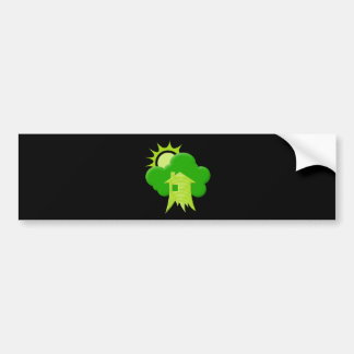 Green House Car Bumper Sticker