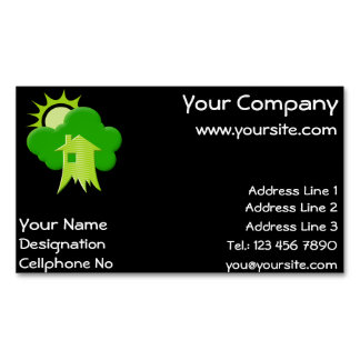 Green House Business Card Magnet