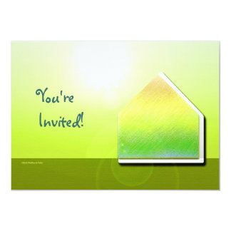 Green House Glow Invitation