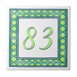 Green House Number Tile