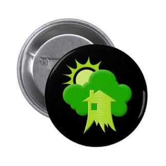 Green House Pinback Button