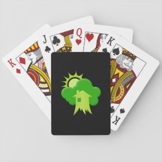 Green House Playing Cards