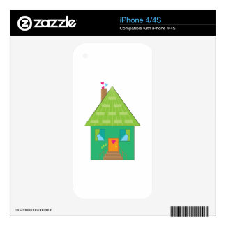 Green House Decals For iPhone 4