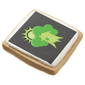 Green House Square Shortbread Cookie