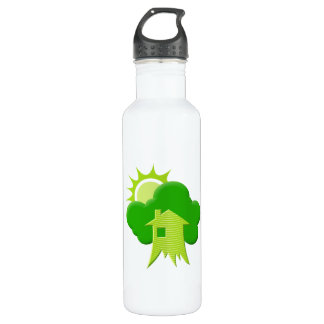 Green House Stainless Steel Water Bottle