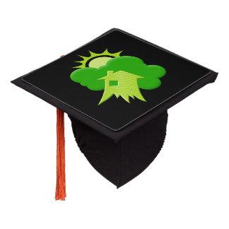 Green House Graduation Cap Topper