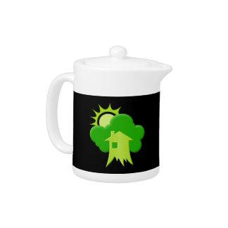 Green House Teapot