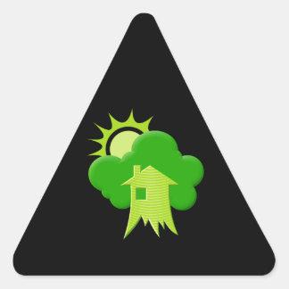Green House Triangle Sticker