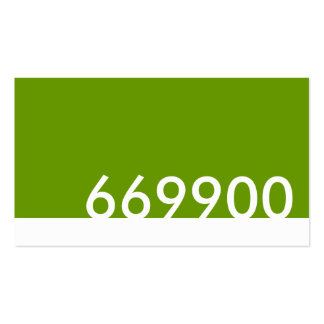 green html color code 669900 business card template
