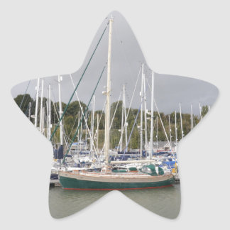 Green Hulled Traditional Cutter Star Sticker