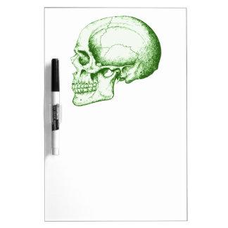 Green Human Skull Dry-Erase Boards