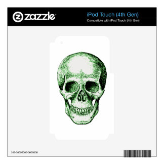 Green human skull face iPod touch 4G skin