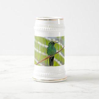 Green Hummingbird Photo Beer Stein