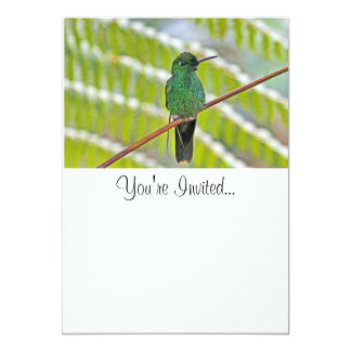 "Green Hummingbird Photo 5"" X 7"" Invitation Card"