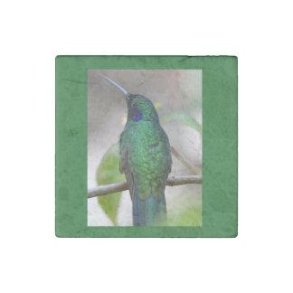 Green Hummingbird Stone Magnet