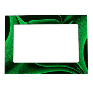 Green Hunter Fractal Magnetic Photo Frame
