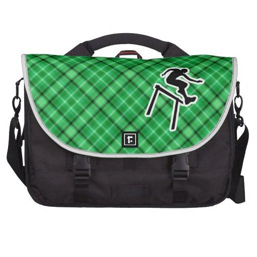 Green Hurdler Laptop Messenger Bag