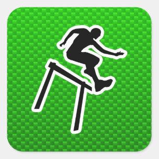 Green Hurdler Square Sticker