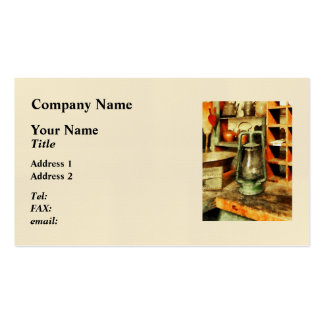 Green Hurricane Lamp In General Store Double-Sided Standard Business Cards (Pack Of 100)