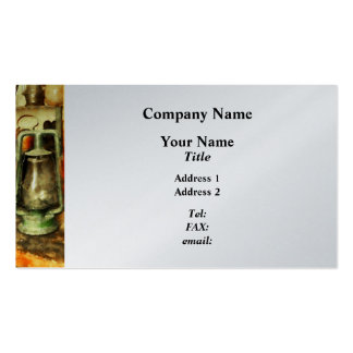 Green Hurricane Lamp in General Store - Platinum Double-Sided Standard Business Cards (Pack Of 100)