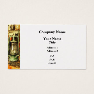 Green Hurricane Lamp in General Store - Platinum Business Card