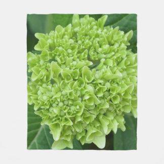 Green Hydrangea Fleece Blanket