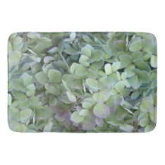 Green Hydrangea Floral Photography Bath Mat at Zazzle