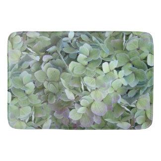 Green Hydrangea Floral Photography Bath Mat