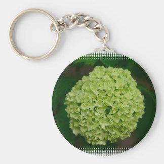 Green Hydrangea Keychain