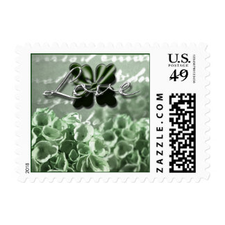 Green Hydrangea Wedding Flowers Postage Stamps